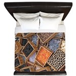Glass Beads King Duvet