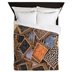 Glass Beads Queen Duvet