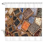 Glass Beads Shower Curtain