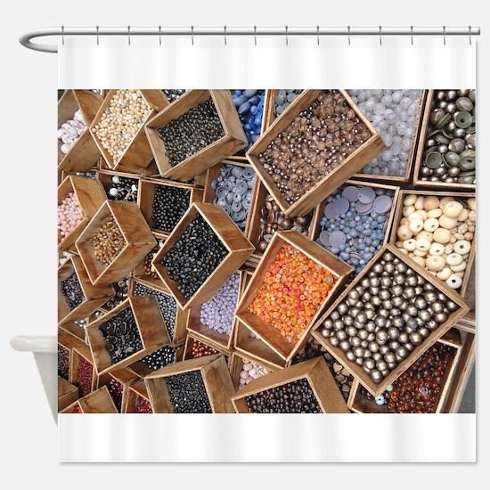 Glass Beads Shower Curtain