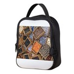 Glass Beads Neoprene Lunch Bag