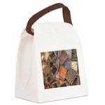 Glass Beads Canvas Lunch Bag