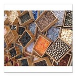 Glass Beads Square Car Magnet 3