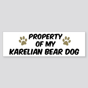 Karelian Bear Dog: Property o Bumper Sticker