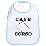 Cane Corso Logo Black Bib