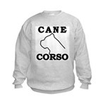 Cane Corso Logo Black Kids Sweatshirt