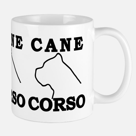 Cane Corso Logo Black Mug