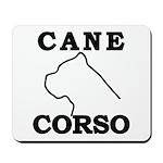 Cane Corso Logo Black Mousepad