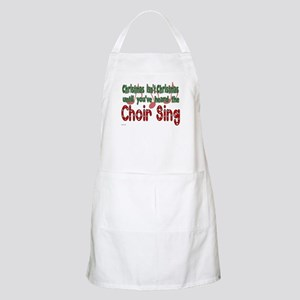 Christmas...Choir Sings BBQ Apron