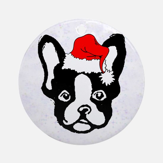 French Bulldog Santa-1 Ornament (Round)