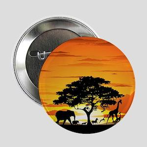 """Wild Animals on African Savannah Sunset 2.25"""" Butt"""