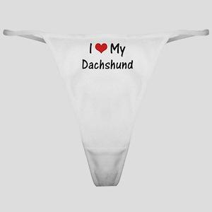 I Heart My Dachshund Classic Thong