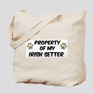 Irish Setter: Property of Tote Bag