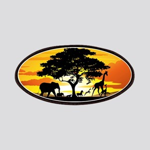Wild Animals on African Savannah Sunset Patches