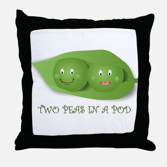 PEAS IN A POD Throw Pillow