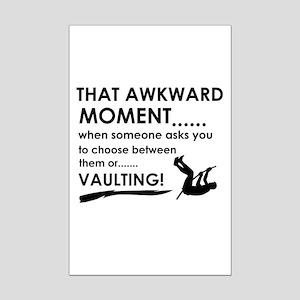 Awkward moment vaulting designs Mini Poster Print