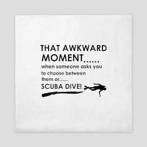 Awkward moment scuba dive designs Queen Duvet