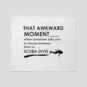 Awkward moment scuba dive designs Throw Blanket