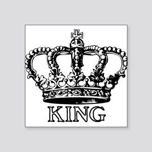 King Crown Rectangle Sticker