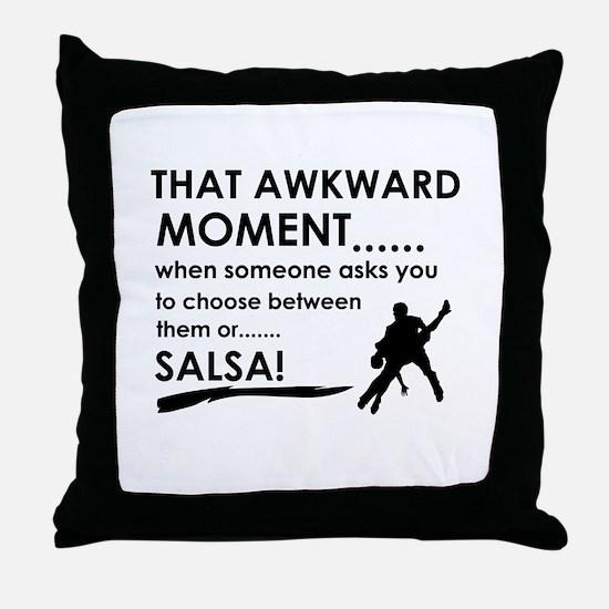 Awkward moment salsa designs Throw Pillow