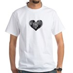 Contrabasson Heart White T-Shirt