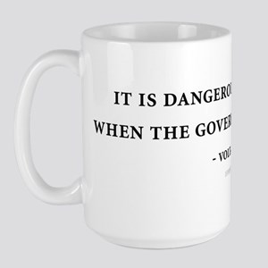 Voltaire Quote Large Mug