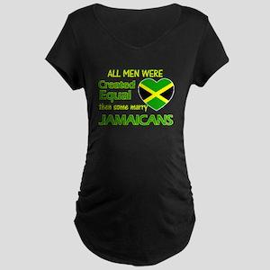 Jamaican wife designs Maternity Dark T-Shirt