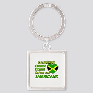 Jamaican wife designs Square Keychain