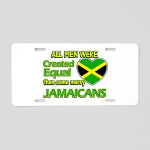 Jamaican wife designs Aluminum License Plate