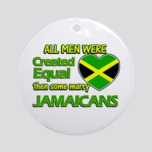 Jamaican wife designs Ornament (Round)