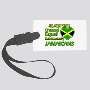 Jamaican wife designs Large Luggage Tag