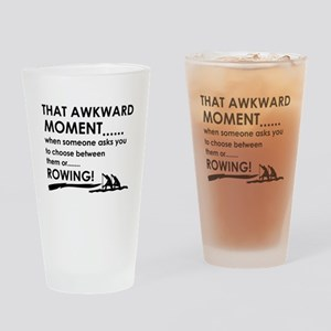 Awkward moment rowing designs Drinking Glass