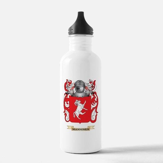 Manninen Coat of Arms - Family Crest Water Bottle