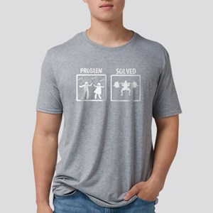 Problem Solved Weight Lifti Mens Tri-blend T-Shirt