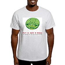 Pet Is Not a Rock - Ambassado Ash Grey T-Shirt