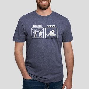 Problem Solved Snowmobiling Mens Tri-blend T-Shirt