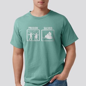 Problem Solved Snowmobil Mens Comfort Colors Shirt