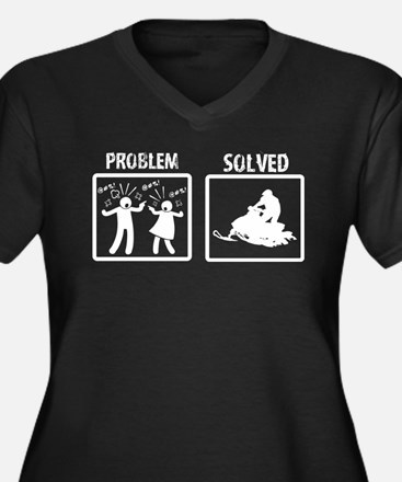 Problem Solved Snowmobiling Plus Size T-Shirt