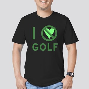 I Hate Golf Men's Fitted T-Shirt (dark)