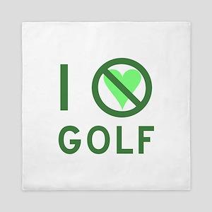 I Hate Golf Queen Duvet