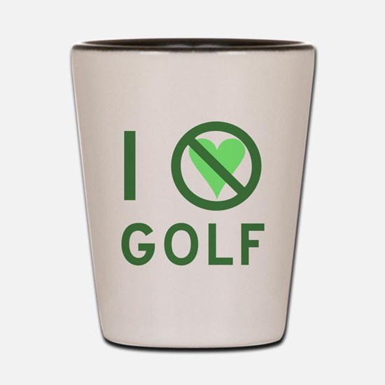 I Hate Golf Shot Glass