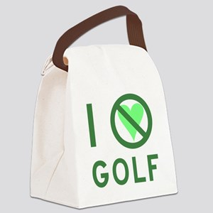 I Hate Golf Canvas Lunch Bag