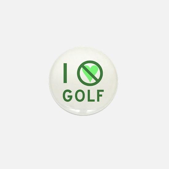 I Hate Golf Mini Button