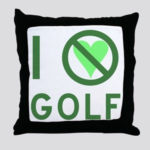 I Hate Golf Throw Pillow