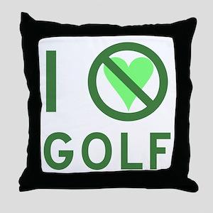 I Hate Golf Throw Pillow