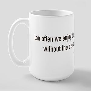 John F. Kennedy Quote Large Mug