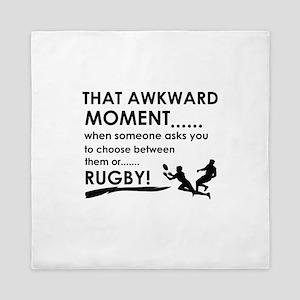 Awkward moment rugby designs Queen Duvet