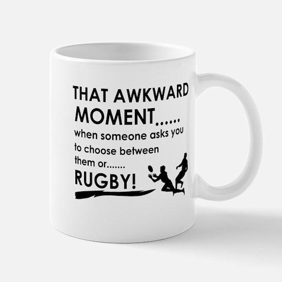 Awkward moment rugby designs Mug