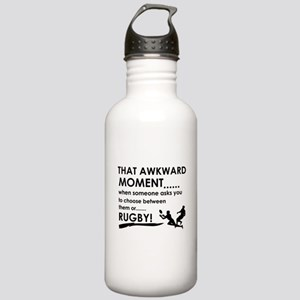 Awkward moment rugby designs Stainless Water Bottl
