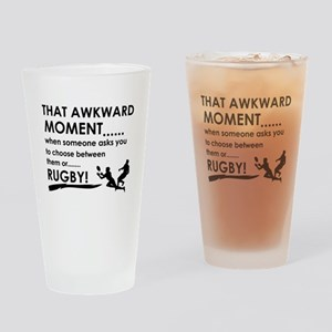 Awkward moment rugby designs Drinking Glass